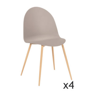 Ensemble de 4 Chaises Taupe NELLY
