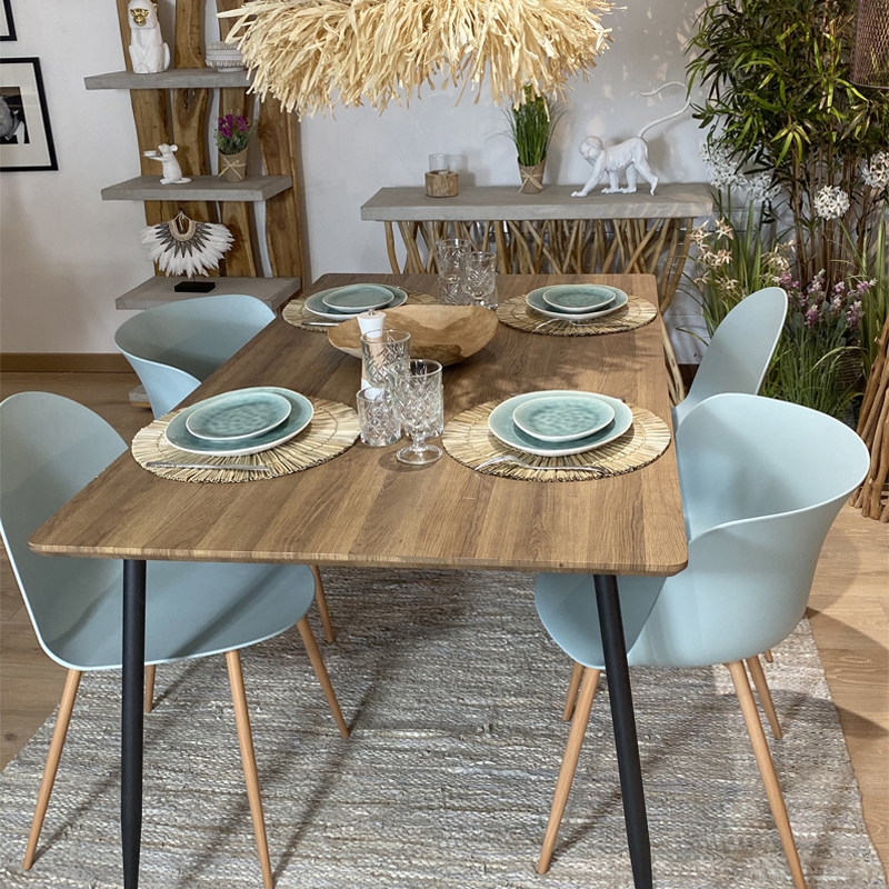 4 Chaises Nelly Celadon