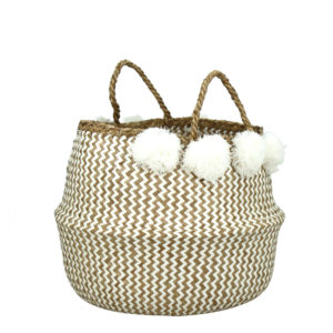Panier Pliable Beige & Blanc CANTHO