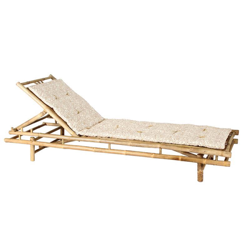 Chaise longue en bambou Bondi