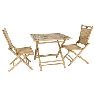 Ensemble table et chaise en bambou Bondi