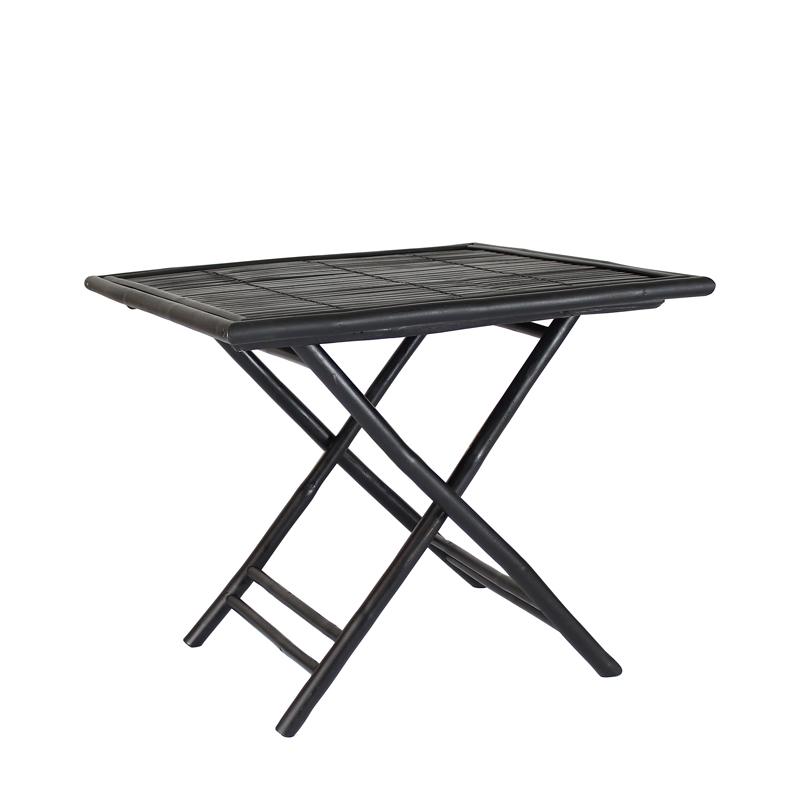 Ensemble Table et Chaises en Bambou Noir BONDI