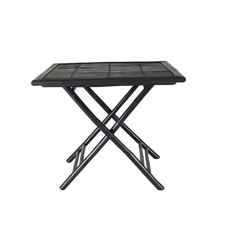 Table Carrée en Bambou Noir BONDI