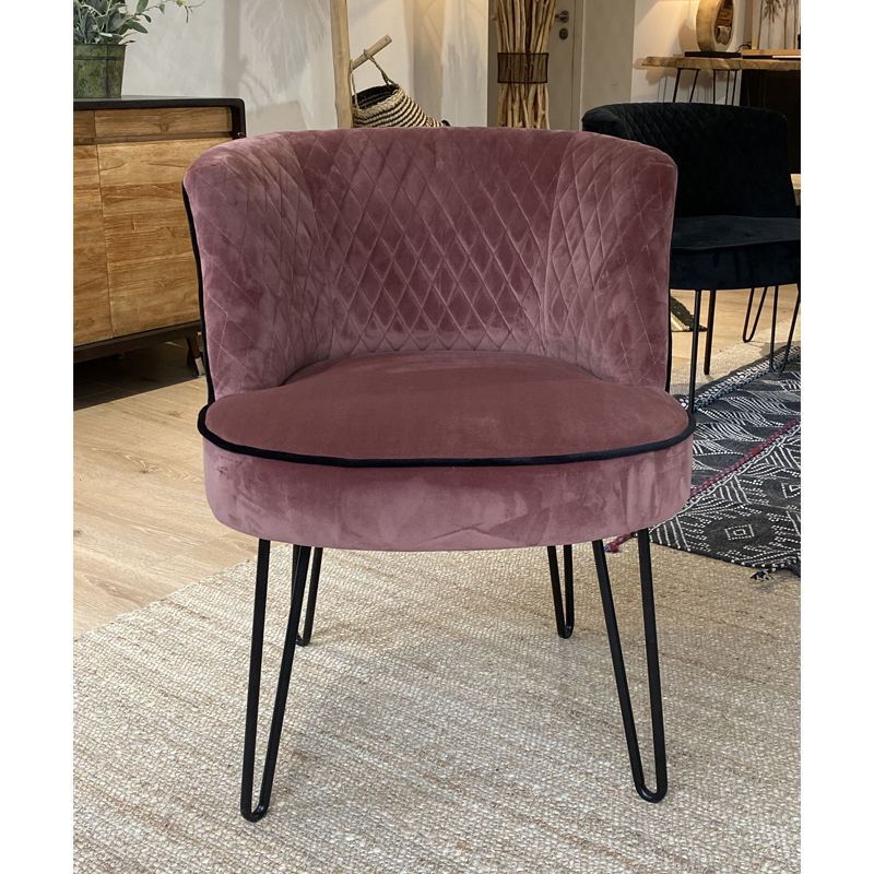 Fauteuil Rose RAJA Ambiance