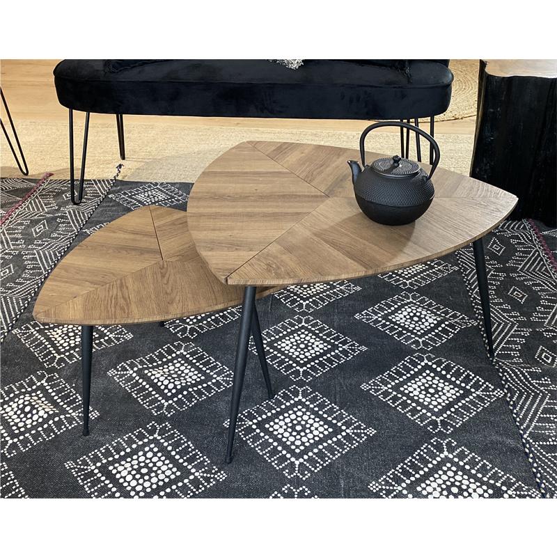 Ensemble de 2 Tables Basses COBRA Ambiance