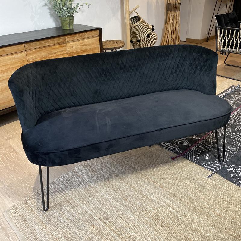 Canapé Noir RAJA