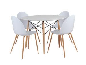 Ensemble Table et Chaises Blanches