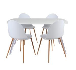 Ensemble Table et Chaises Blanches CHERRY