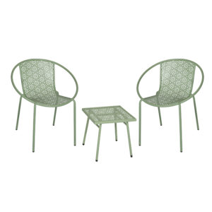 Ensemble Table et Chaises Vertes BRESCIA