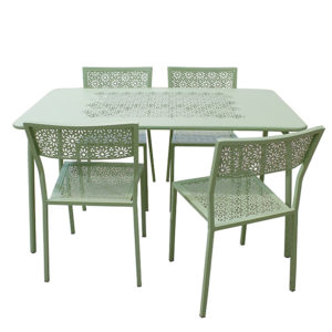 Ensemble Table et Chaises Vertes LICATA