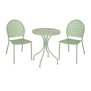 Ensemble Table et Chaises Verte PONZA